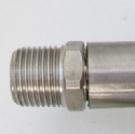 Gas Cooker Hose Bent / Angled Bayonet 4 Foot x 1/2